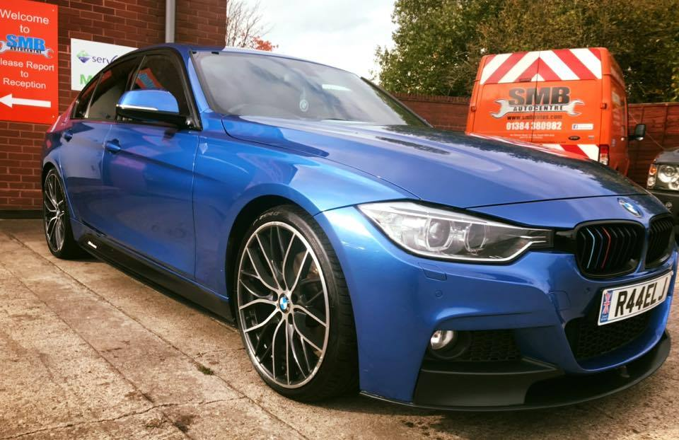 Very nice looking BMW in for a full service