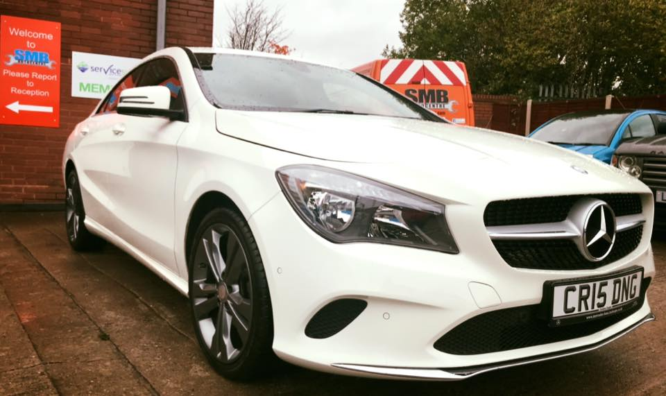 Very nice looking Mercedes in for dealer spec B Service